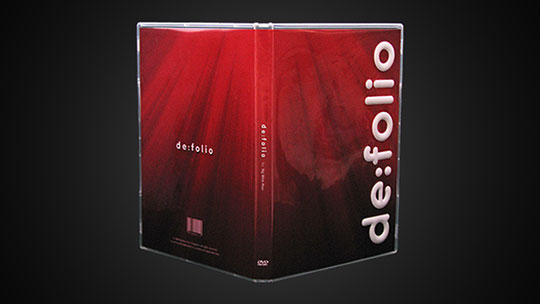 Image of the exterior of the DVD case of de:folio.